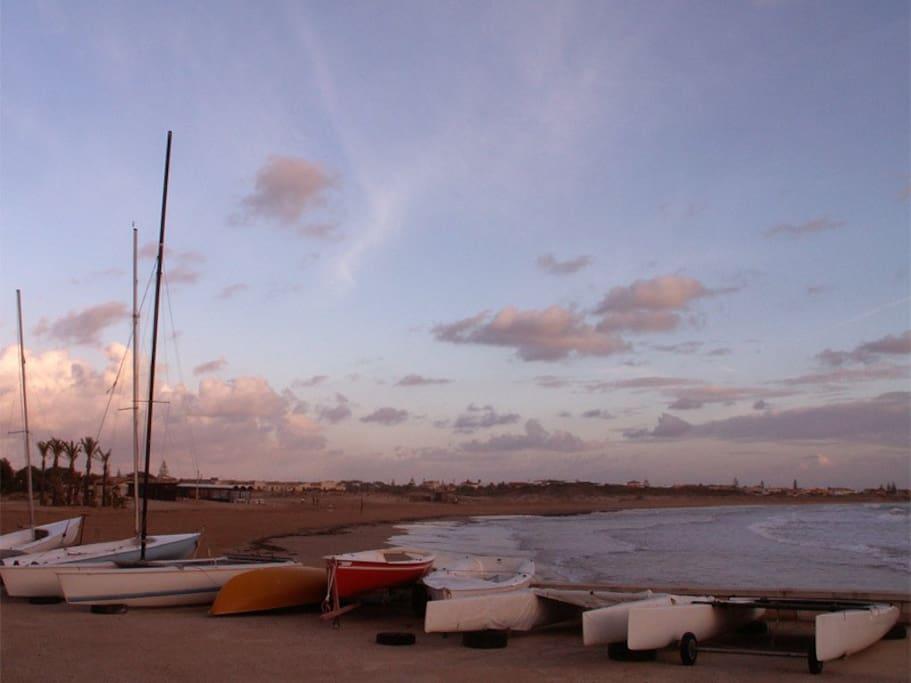 La spiaggia di Marina di Modica