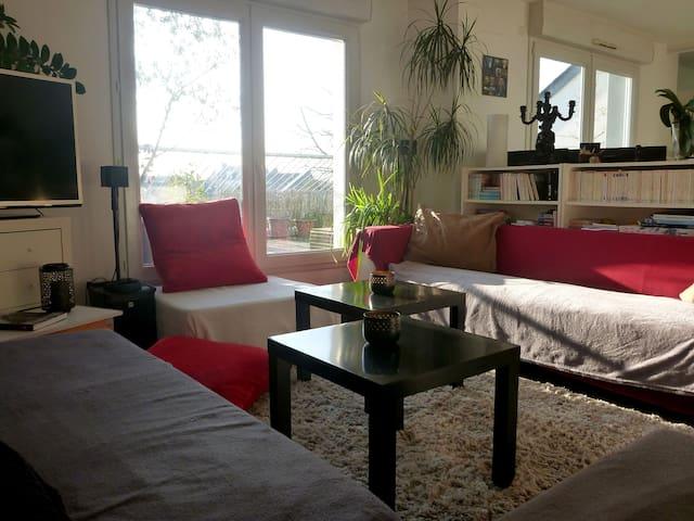Bel appartement lumineux avec grande terrasse - Nantes - Apartment