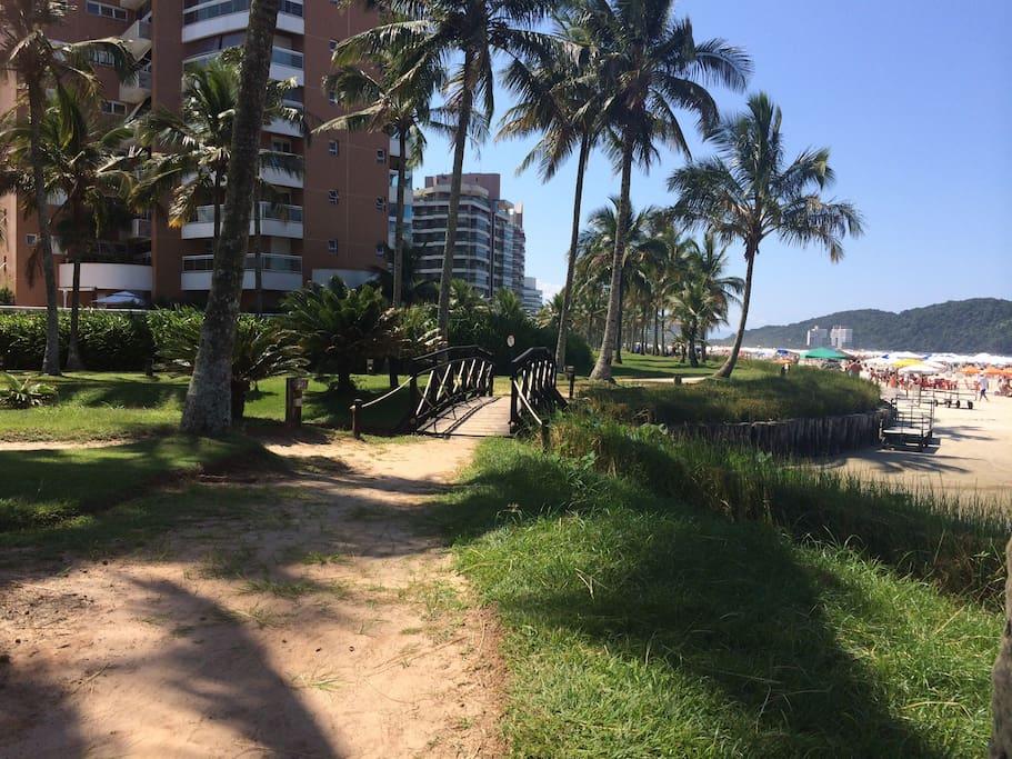 uma das áreas de acesso à praia (módulo 6)