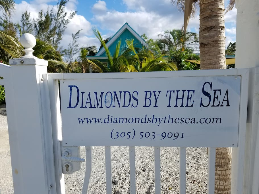 Gated Entrance to Diamonds
