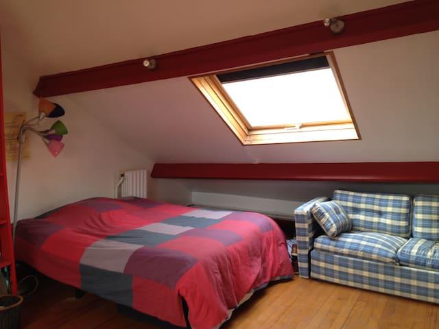 3 chambres + jardin proche Paris