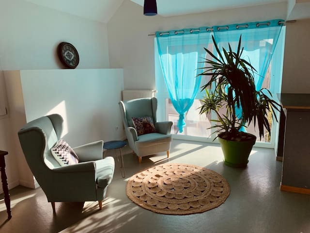 Appartement duplex dans ancienne ferme rénovée