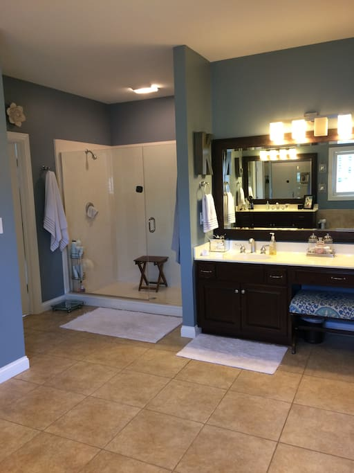 His and Hers large master bathroom