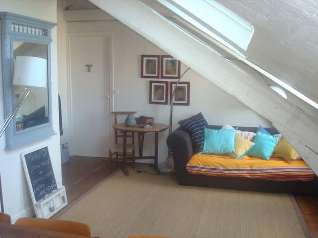 charmant appartement sous les toits appartamenti in affitto a saint mand le de france francia. Black Bedroom Furniture Sets. Home Design Ideas