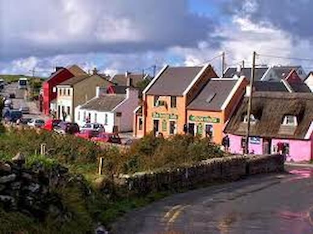 this is the village with shops pubs and restaurants