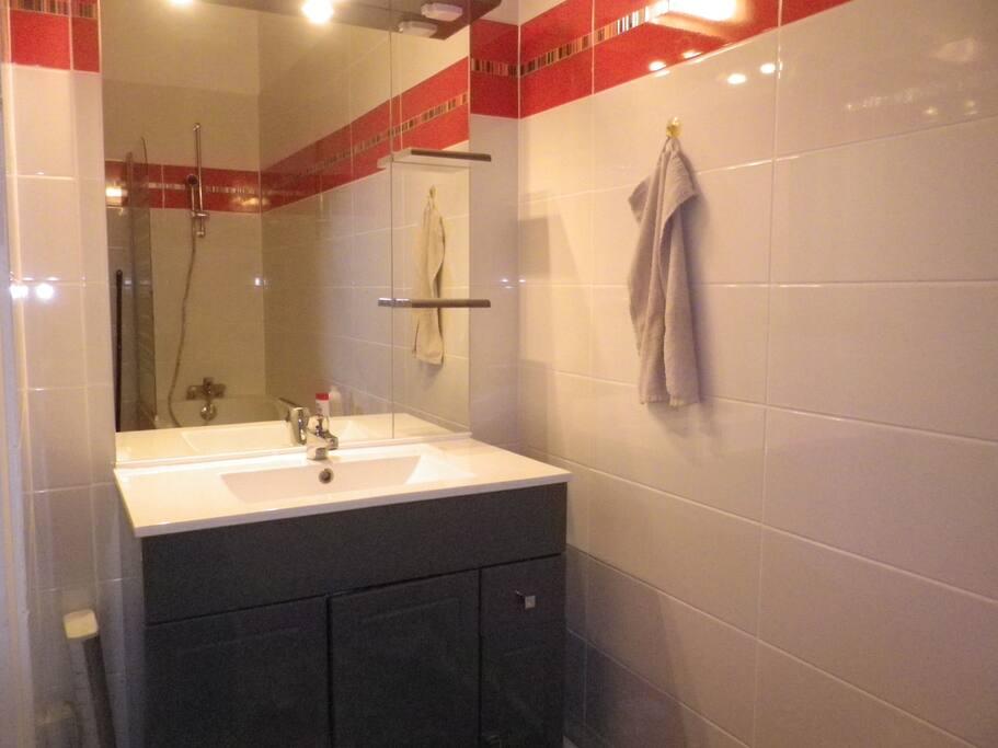Salle de bain indépendante avec toilette