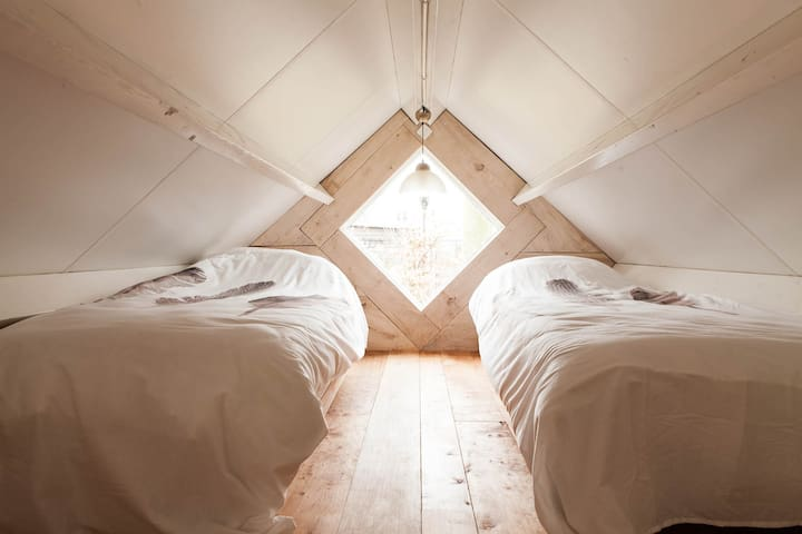 sleeping in the loft
