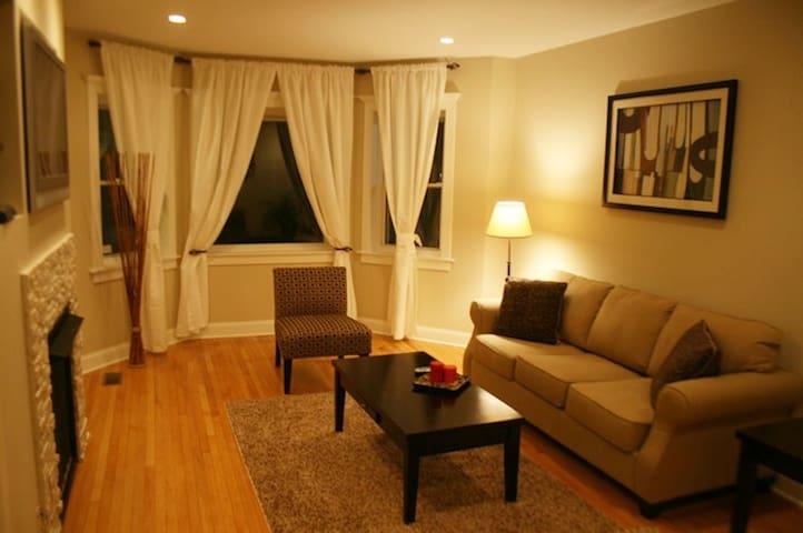 2BD/1BA Suite w/Fireplace (hp1) FREE PARKING!!