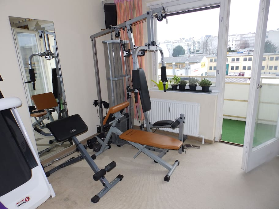 A private home gym you can use as well