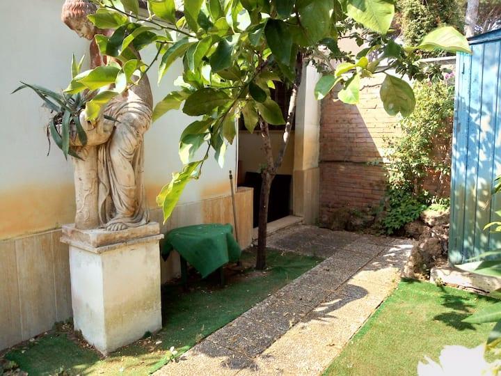 All'ombra del leccio. In the shade of the quercus