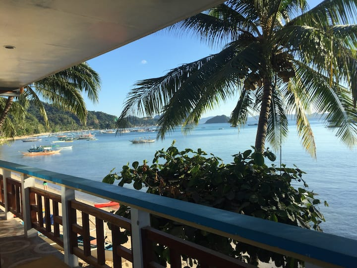 Beachfront Aircon Room With Bfast (Town Proper)