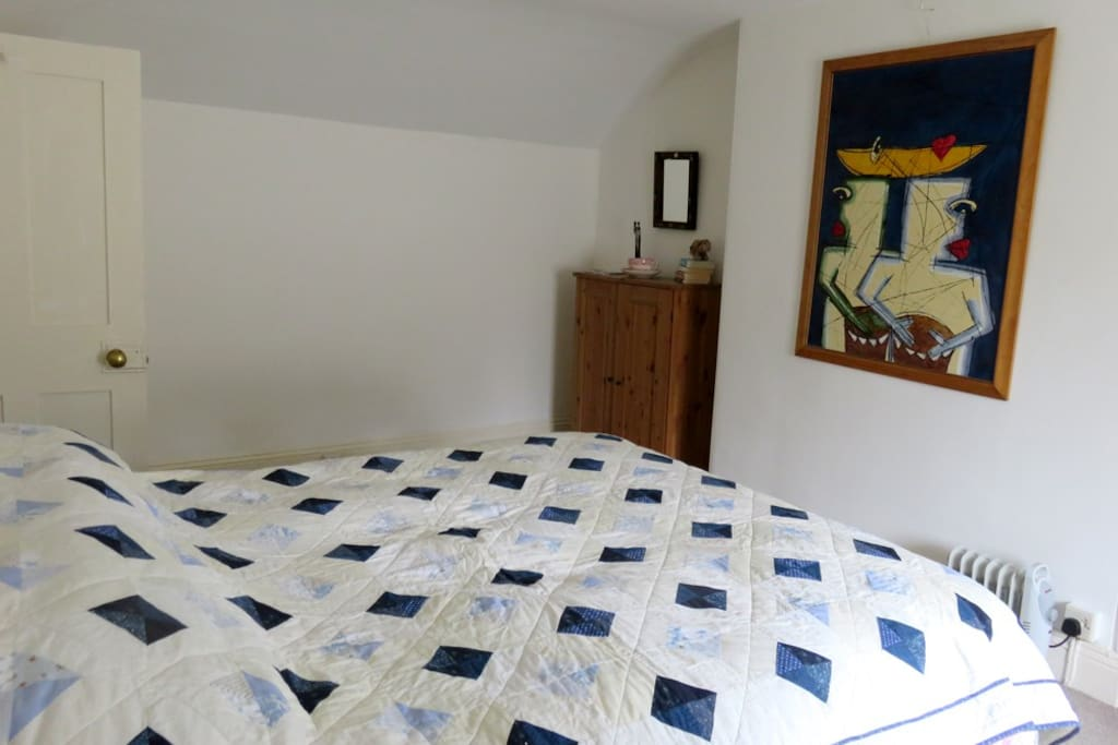 The bedroom is a good size with a very comfy (I'm told!) double bed and some space for your things in the wardrobes