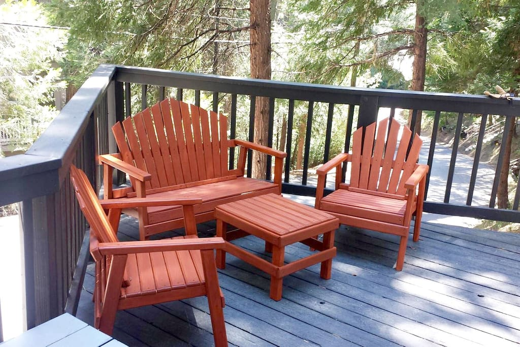 Deck with chairs. BBQ is on premises.