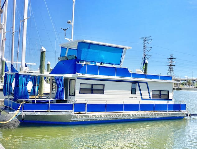 Cozy Houseboat at Kemah Tx - Kemah - Boot