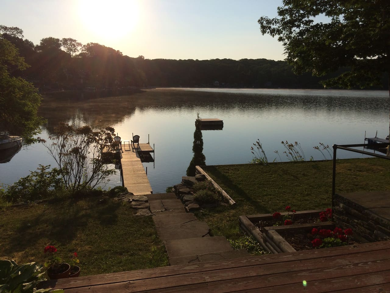 View of the Lake from the side deck.