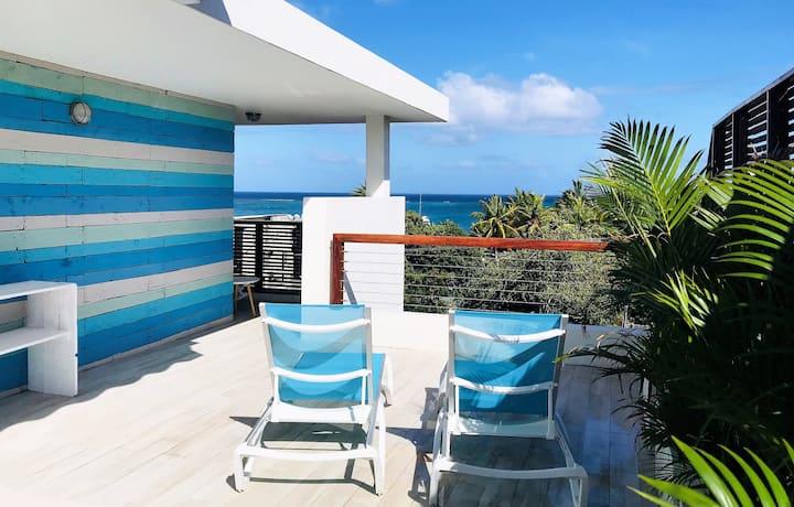 Luxueux Penthouse avec vue mer