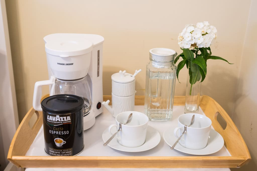 Free in-room specialty coffee service.