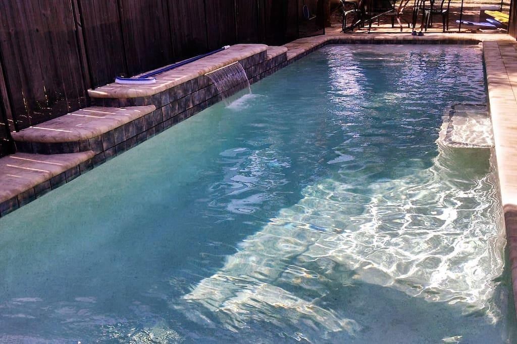 35 Foot heated salt-water swimming pool!!