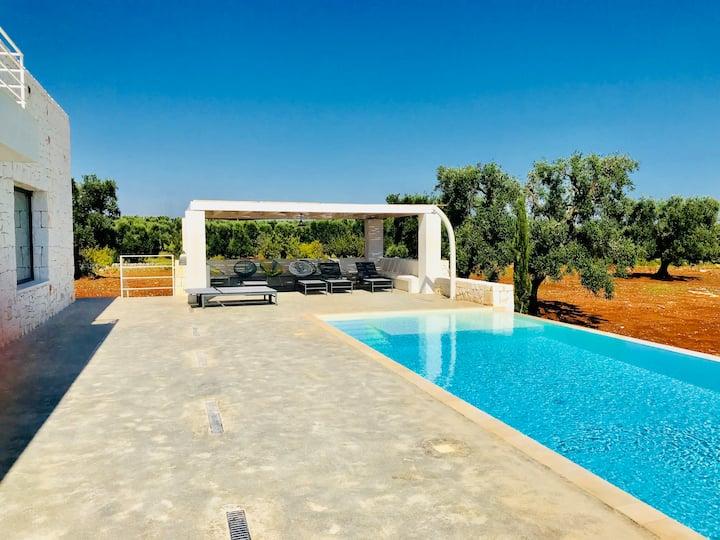 Grosszügige, moderne Villa mit Pool und Innenhof