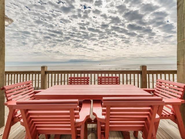 Seaing is Believing, Dogs, Beachfront, Crystal Beach, Bolivar, Texas