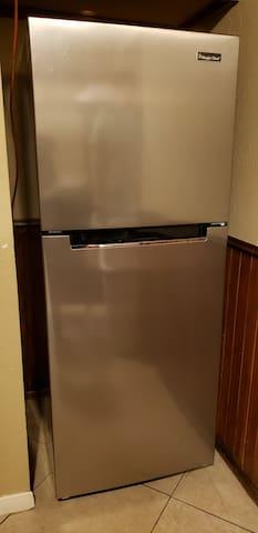 New medium size (10.1 cubic feet) refrigerator as of July 2019