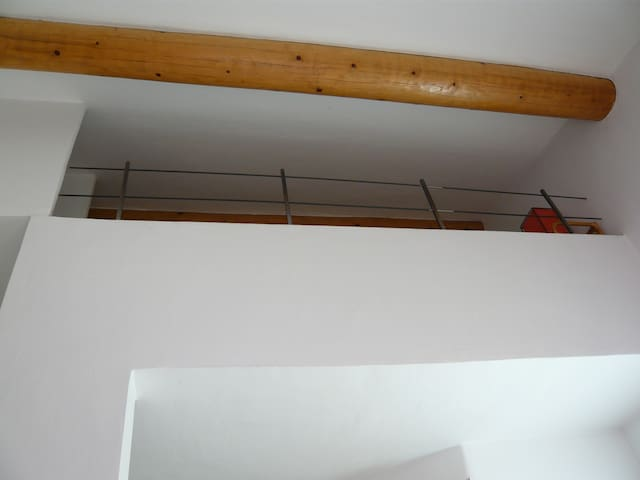 The bedroom upstairs