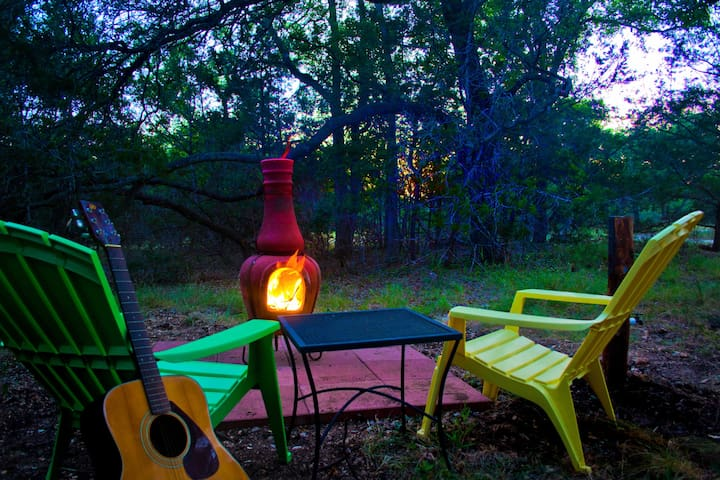 Strum your guitar and crack open and ice cold beer next to the fire