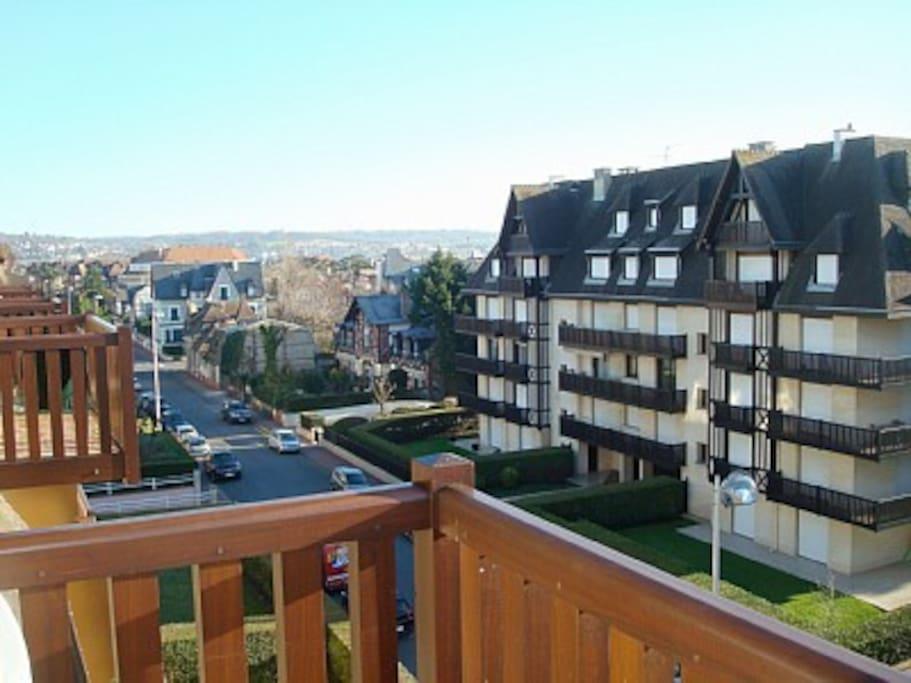 Vue du balcon et du centre ville