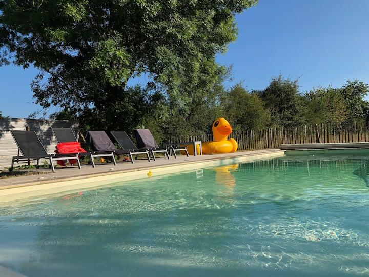charmante maison de campagne avec piscine