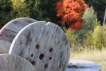 Spools and the fall colours