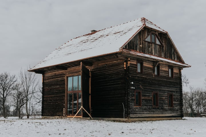 cozy room in a 100 years old wooden barn