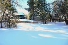 Rear of property.  Awesome sledding hill.  My kids love it. February 2017