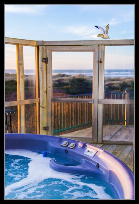 Ocean view from the hot tub