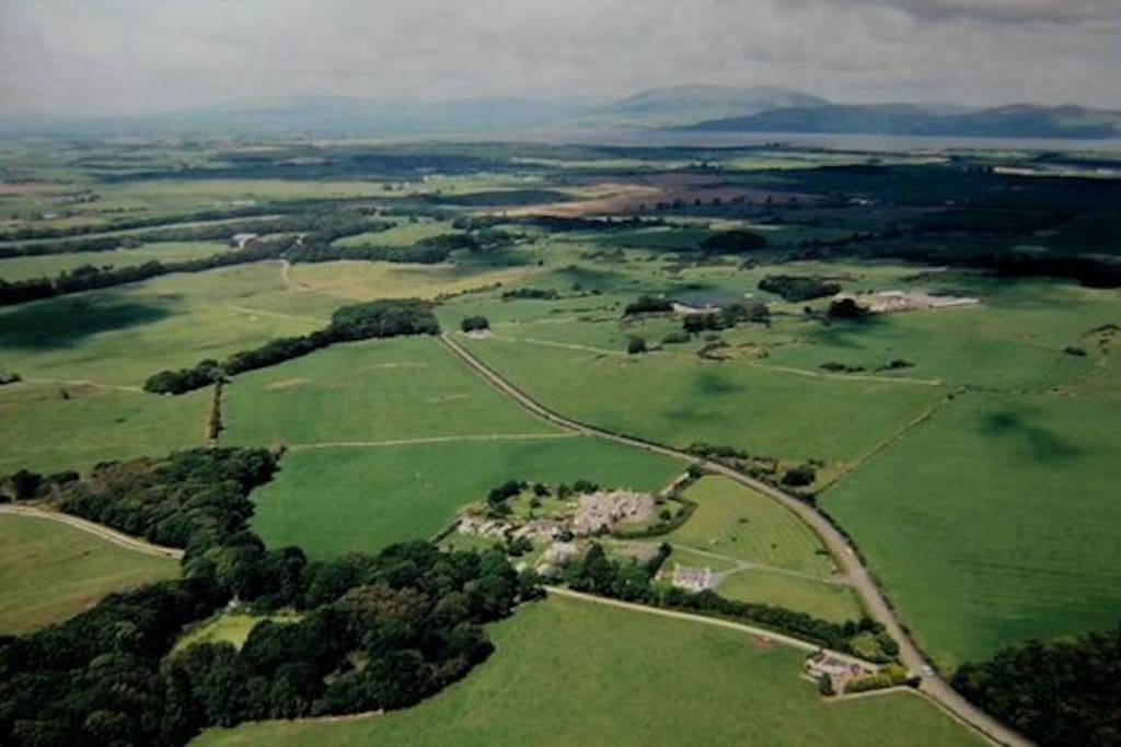aerial view of Castlewigg