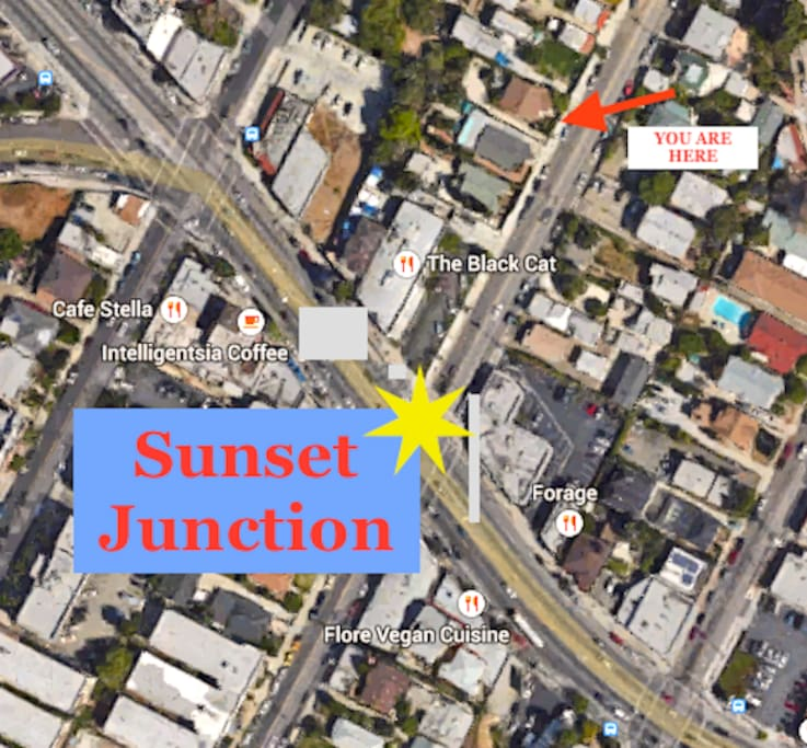 You are 3 houses from the heart of Sunset Junction!!!