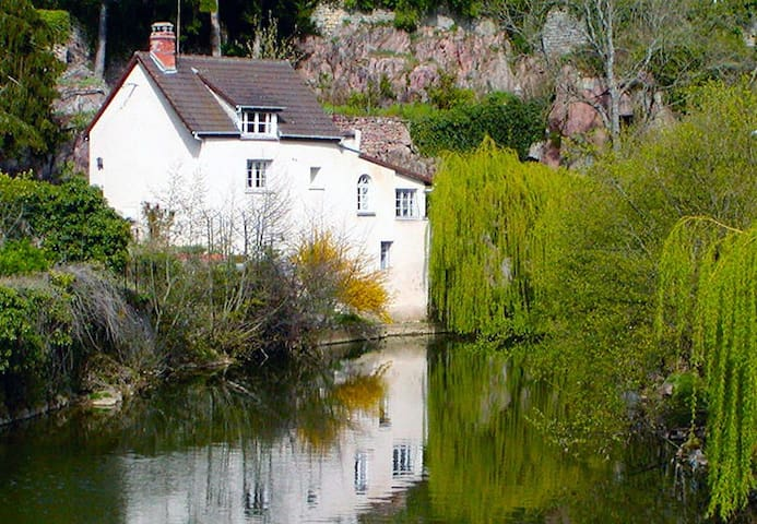 Our holiday rental house sits on a winding river in a private location.