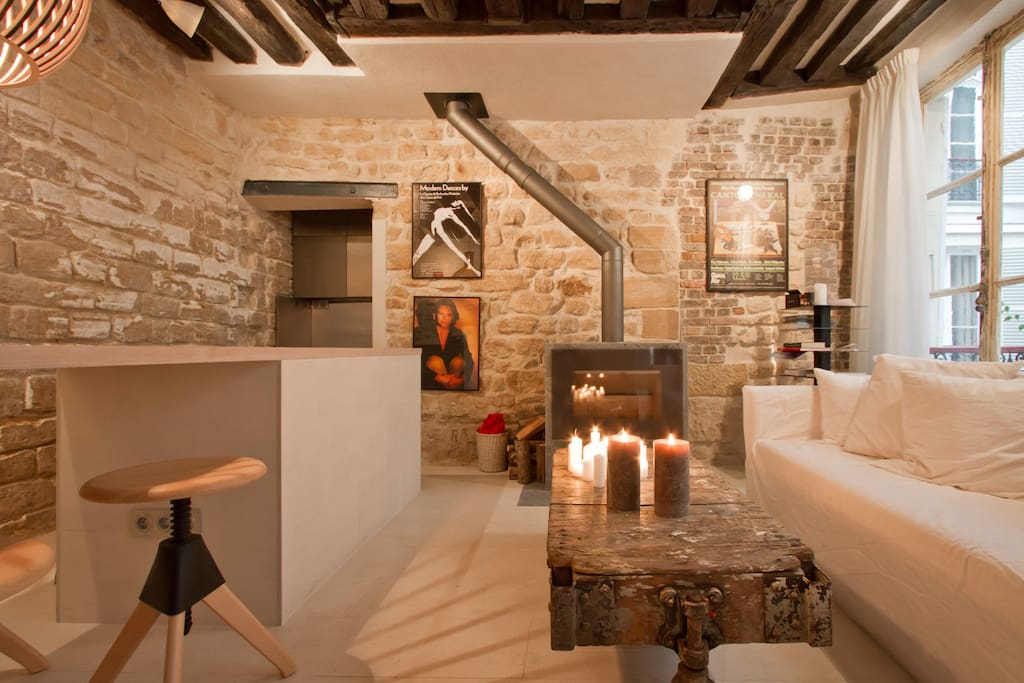 Apt with sauna st germain des pr s appartements louer paris le de fr - Sauna finlandais paris ...