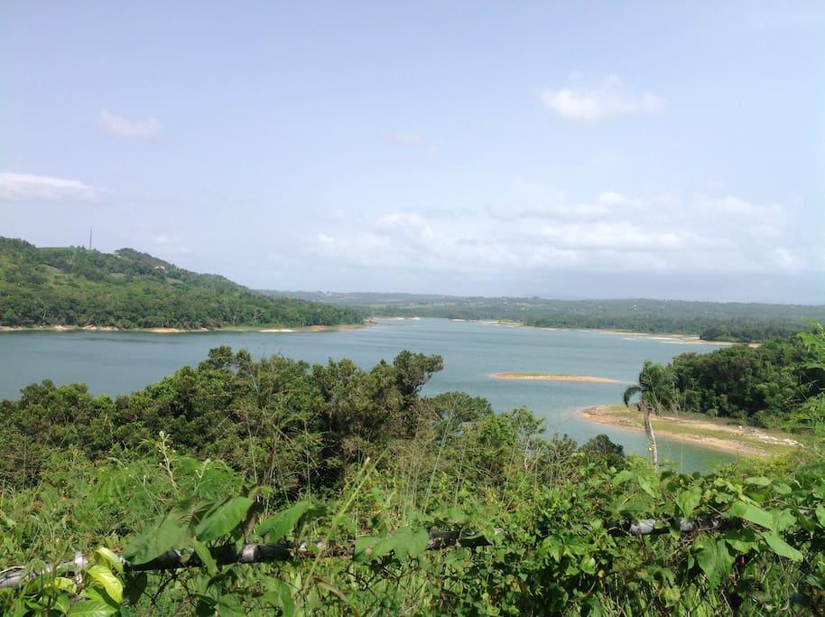 Beautiful Guajataca Lake, great for fishing , kayaking, and strolls!