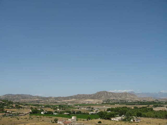 A view from the villa roof terrace