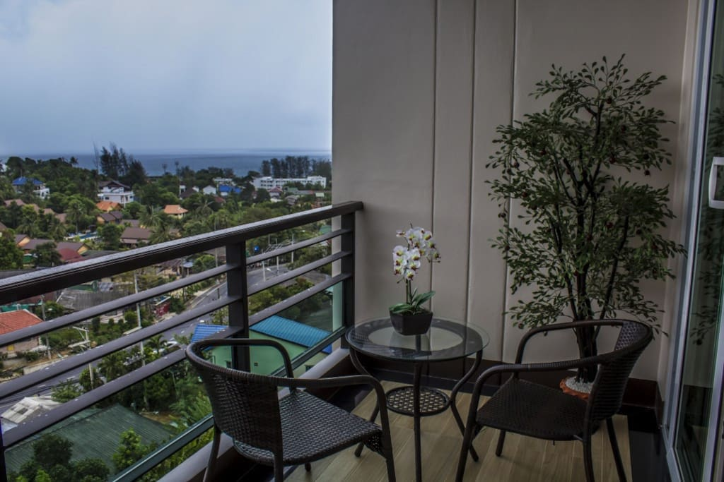 Private balcony with Andaman sea view
