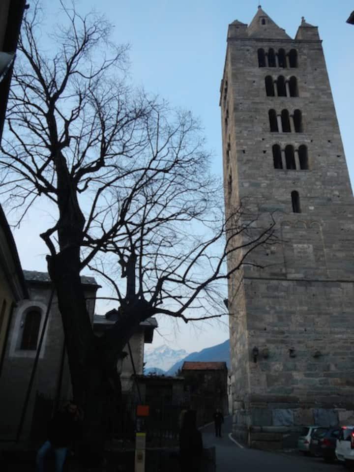 Aosta e l'antica Collegiata S.Orso