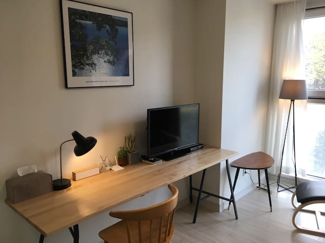 해운대앞, 깔끔한 방 Best Location, Design studio apartment