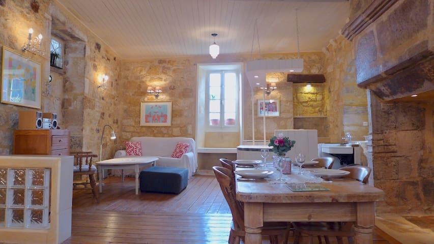 Designer Vintage House In Medieval Saint Cyprien.