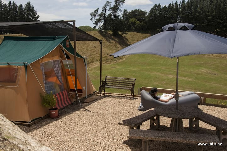 Glamping in private retro tent overlooking farm - Tirau - Tent