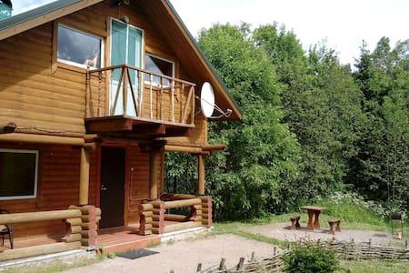 Дом в Карелии на берегу реки на 3 человека