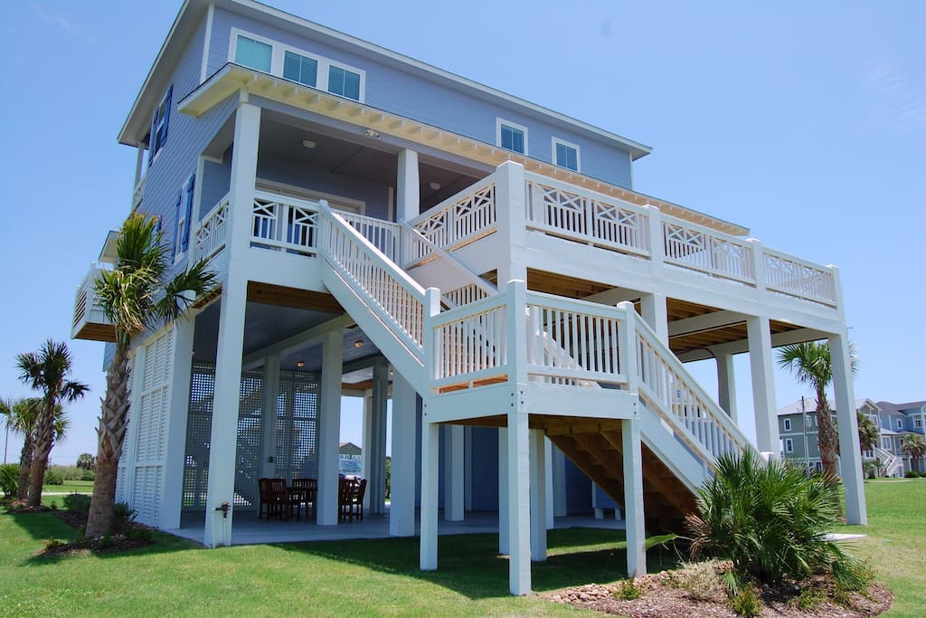 Spectacular Bayfront House Featured On National Tv Houses For Rent In Galveston Texas