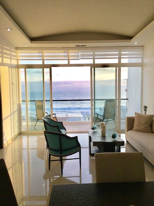 Ocean view Living room and balcony