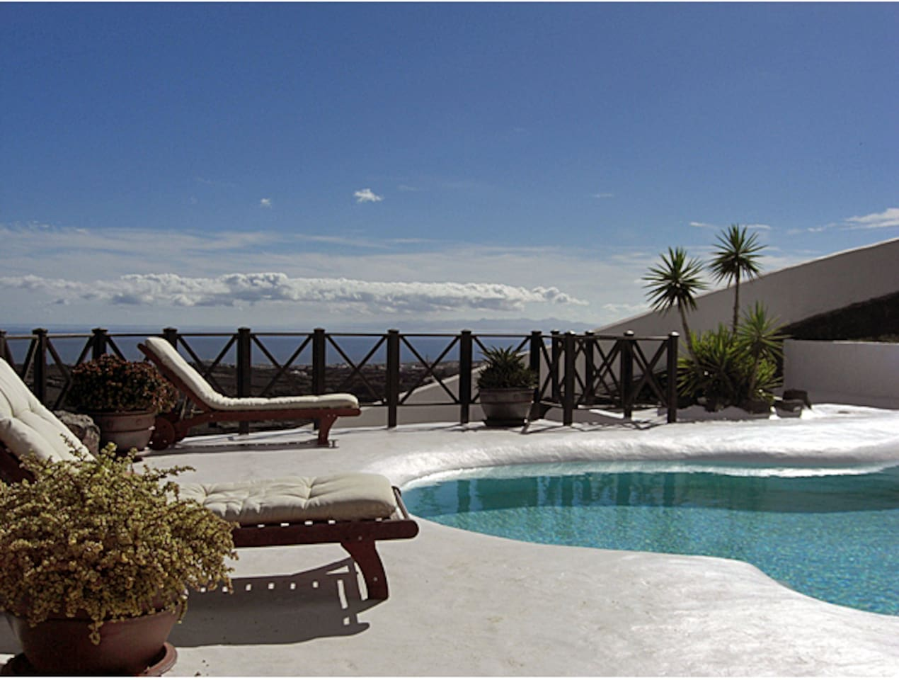 Cesar Manrique style pool and stunning views
