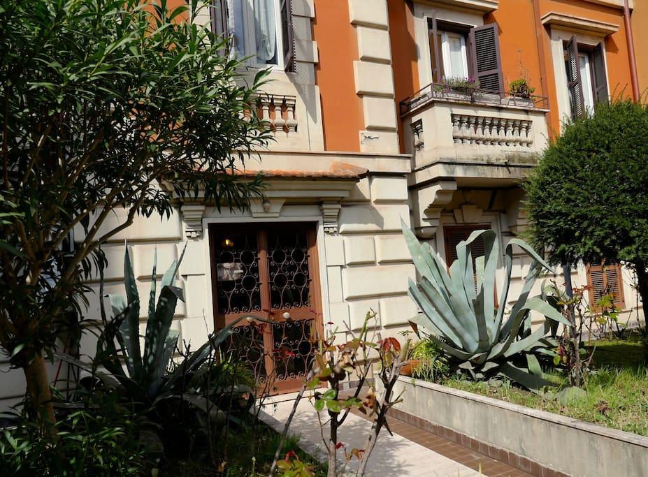 Entrance and small garden