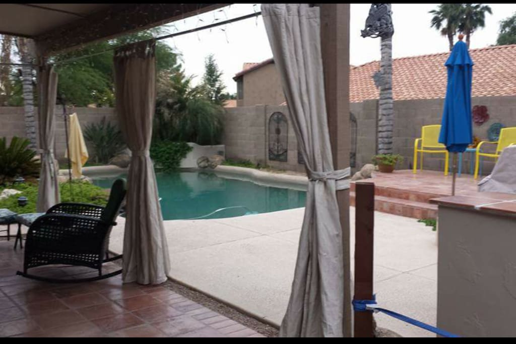 Pool and plenty of seating